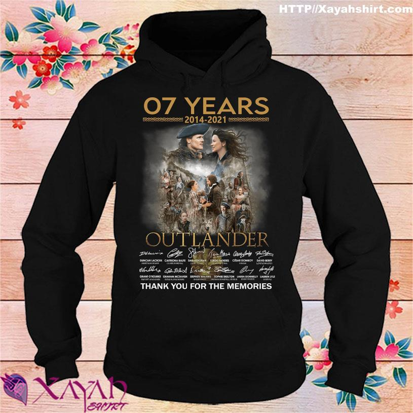07 Years 2014 2021 Outlander thank you for the memories signatures hoodie