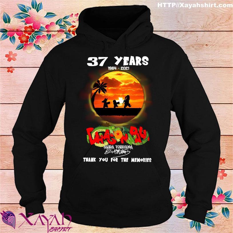 37 Years 1984 2021 Dragon Ball Akira Toriyama signature hoodie