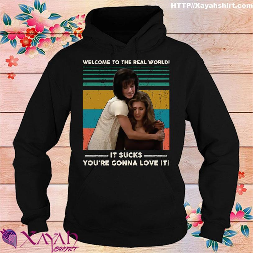 Welcome to the real world it Sucks You're Gonna love it vintage hoodie
