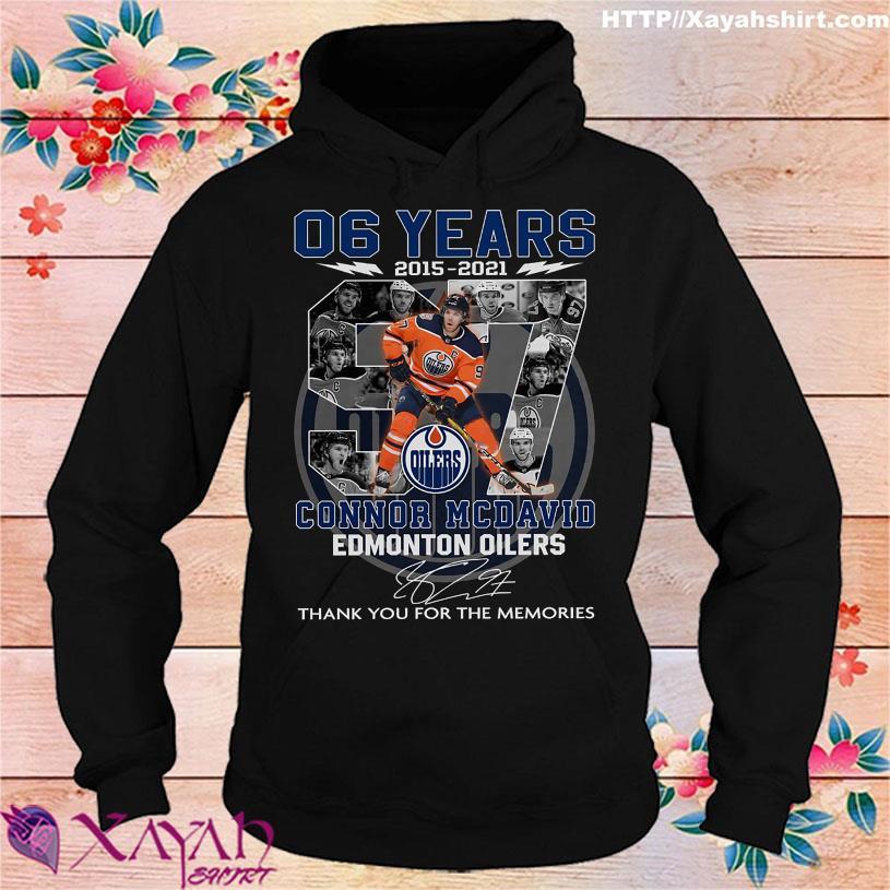 06 Years 2015 2021 Connor Mcdavid Edmonton Oilers signature hoodie