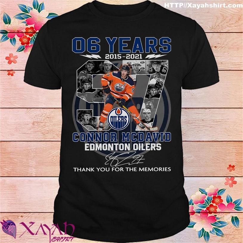 06 Years 2015 2021 Connor Mcdavid Edmonton Oilers signature shirt