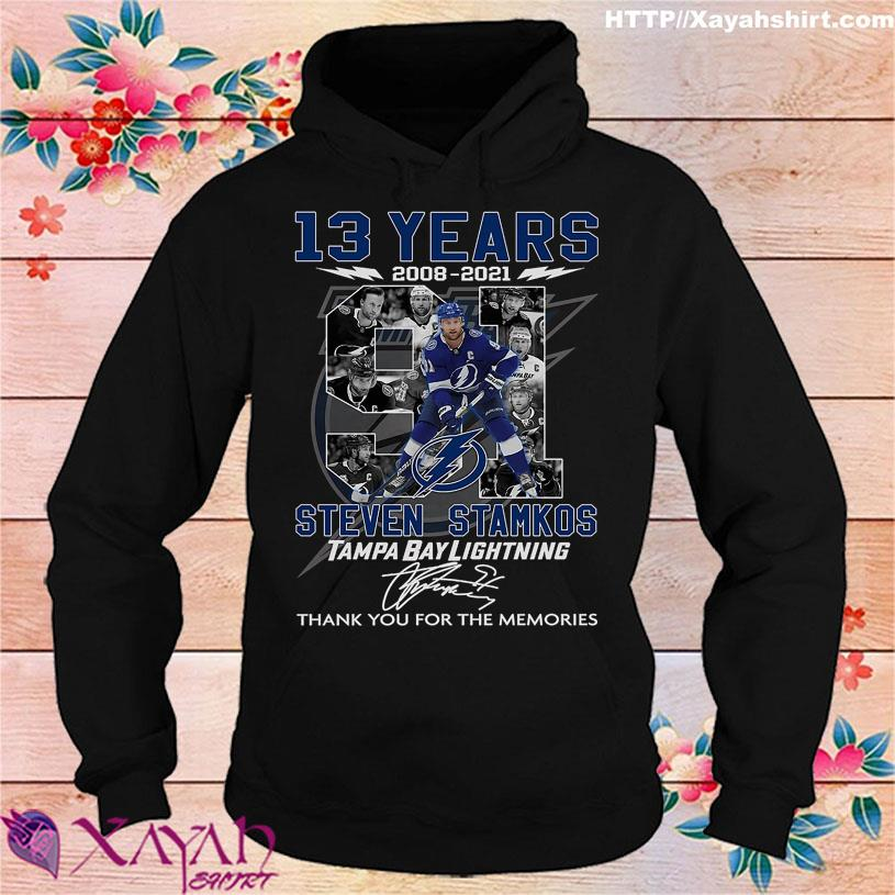 13 Years 2008 2021 Steven Stamkos Tampa Bay Lightning signature hoodie