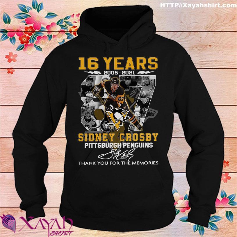 16 Years 2005 2021 Sidney Crosby Pittsburgh Penguins signature hoodie
