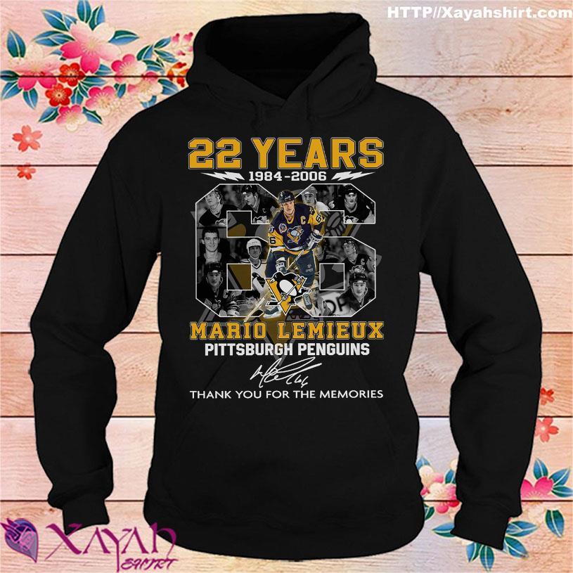 22 Years 1984 2006 Mario Lemieux Pittsburgh Penguins signature hoodie