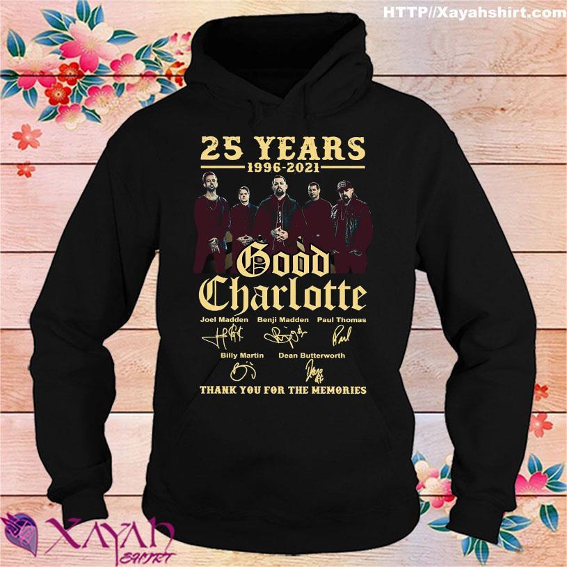 25 Years 1996 2021 Good Charlotte Joel Madden Benji Madden Paul Thomas signatures hoodie