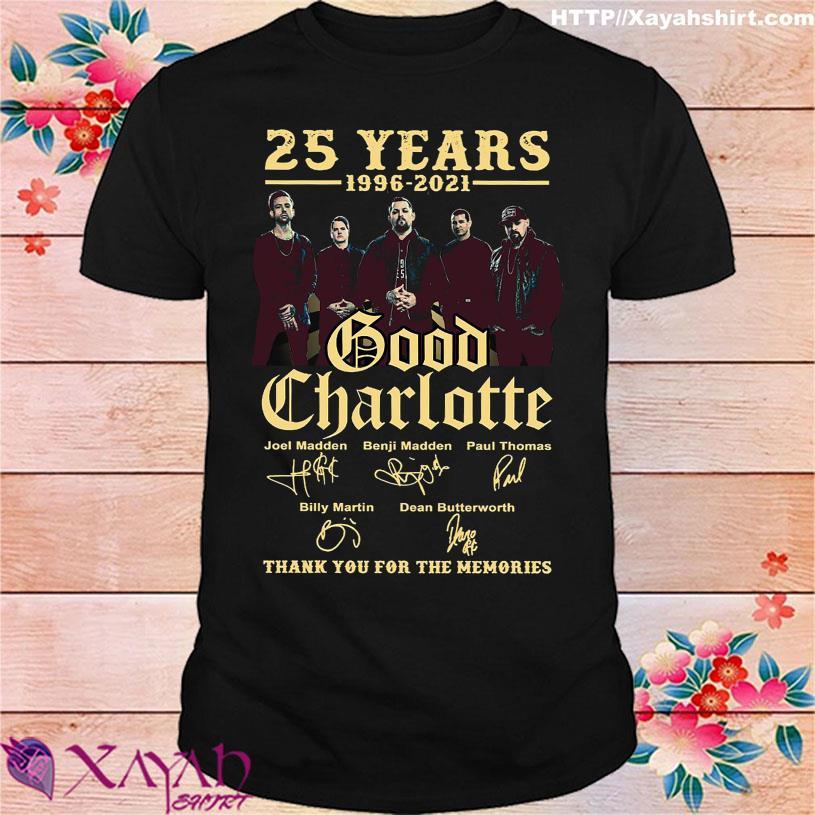 25 Years 1996 2021 Good Charlotte Joel Madden Benji Madden Paul Thomas signatures shirt