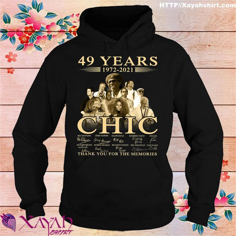 49 Years 1972 2021 Chic thank You for the memories signatures hoodie