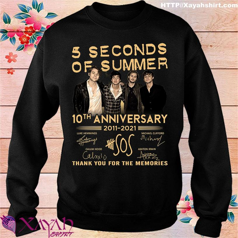 5 Seconds of Summer 10TH Anniversary 2011 2021 signatures sweater