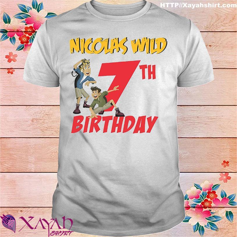 Nicolas wild 7TH Birthday shirt