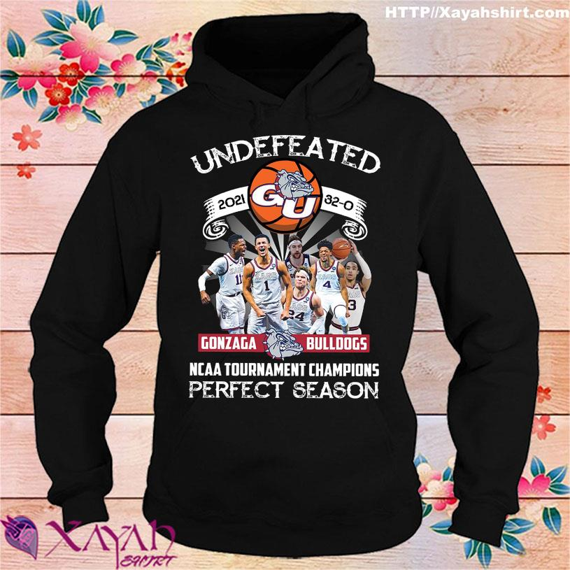 Official Undefeated 2021 Gonzaga Bulldogs NCAA Tournament champions perfect season hoodie