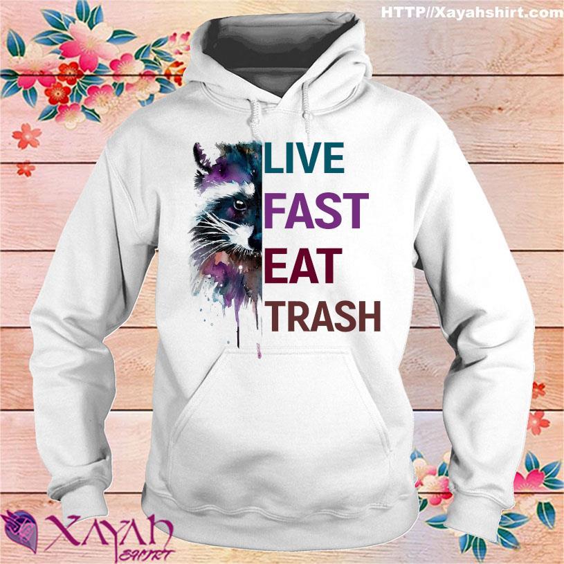 Racoon live fast eat trash hoodie