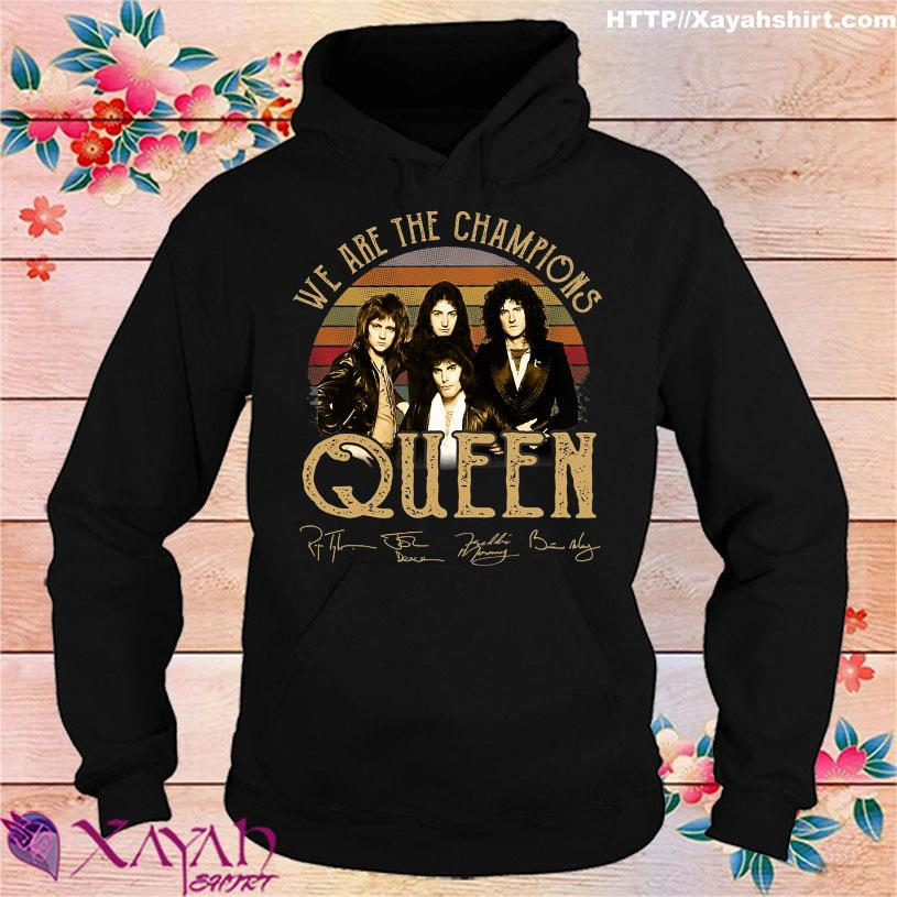We are the Champions Queen signatures vintage hoodie