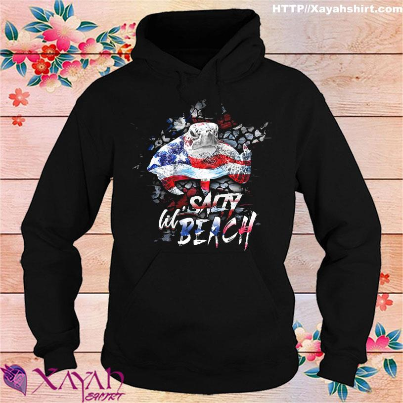 Official Turtle Salty lil Beach American hoodie