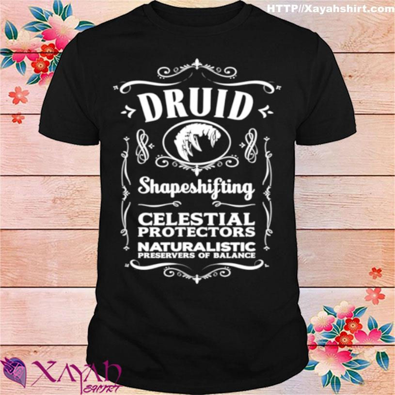 Official Wow Druid Role Playing Gamer Shirt