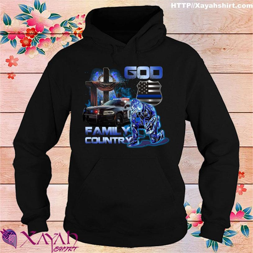 Police God Family Country hoodie