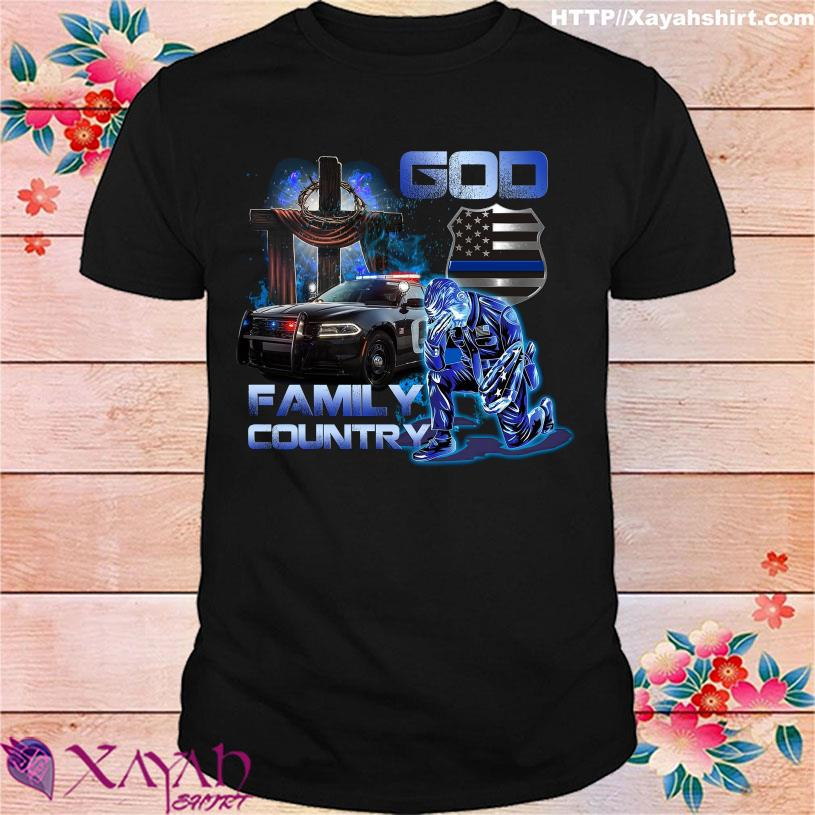 Police God Family Country shirt