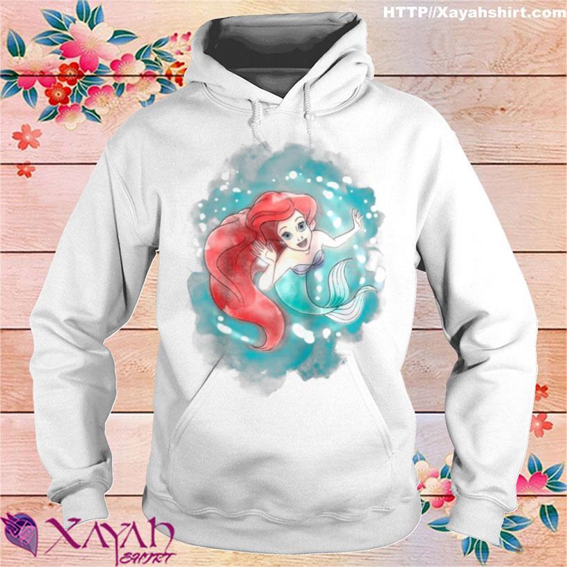 The Little Mermaid Ariel Watercolor Swimming Shirt hoodie