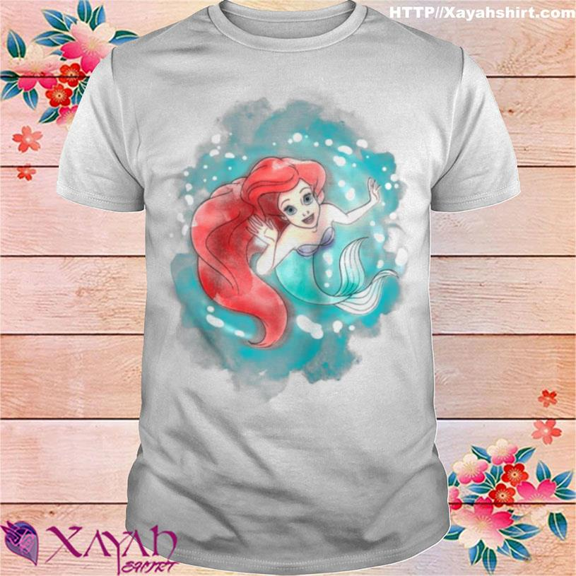 The Little Mermaid Ariel Watercolor Swimming Shirt