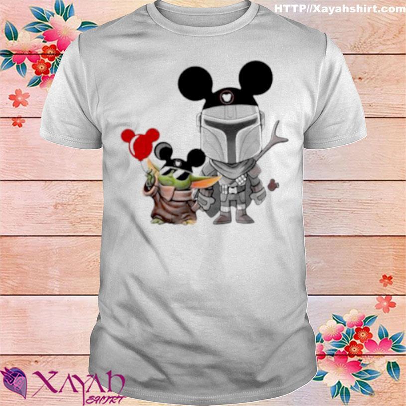 The Mandalorian Baby Yoda Mickey Shirt