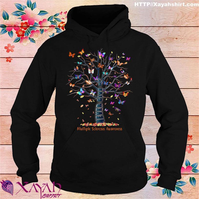 Tree Butterfly Multiple sclerosis Awareness hoodie