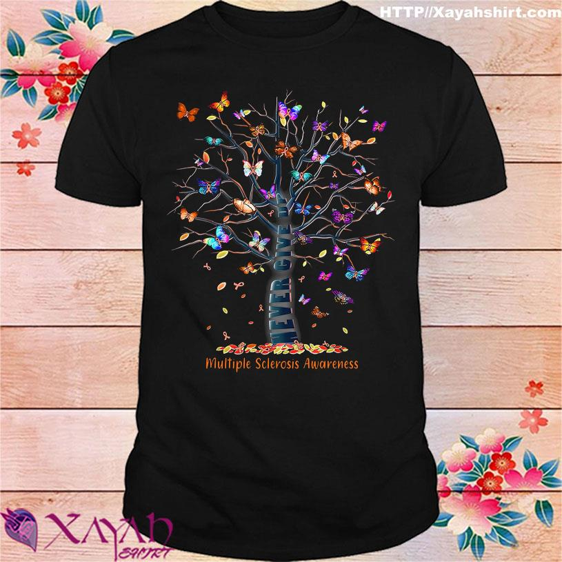 Tree Butterfly Multiple sclerosis Awareness shirt