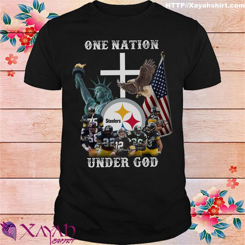 Trending One Nation Steelers under god signatures shirt