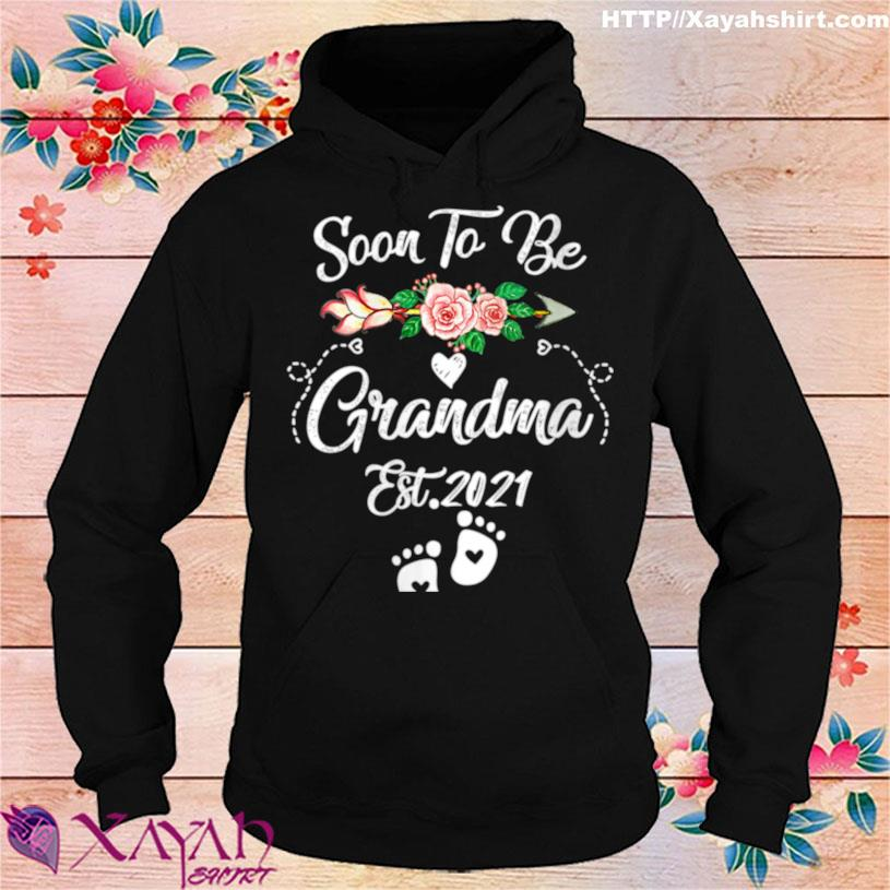 Womens Soon To Be Grandma 2021 Mother's Day For Grandma Pregnancy Shirt hoodie