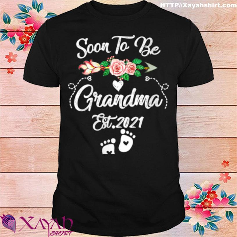 Womens Soon To Be Grandma 2021 Mother's Day For Grandma Pregnancy Shirt