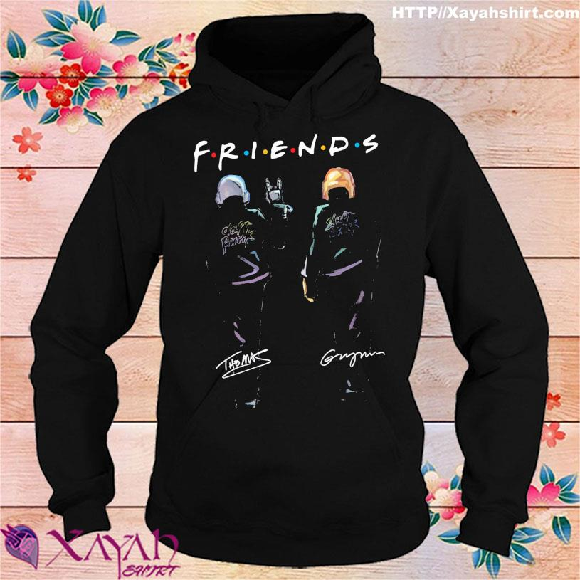 Daft Punk friend signatures s hoodie