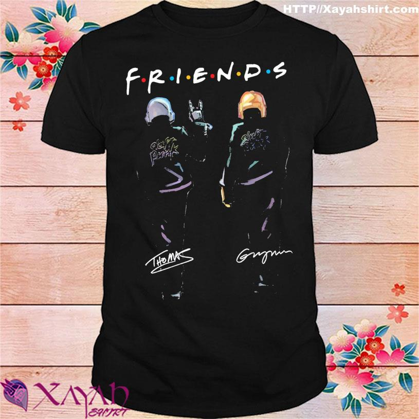 Daft Punk friend signatures shirt