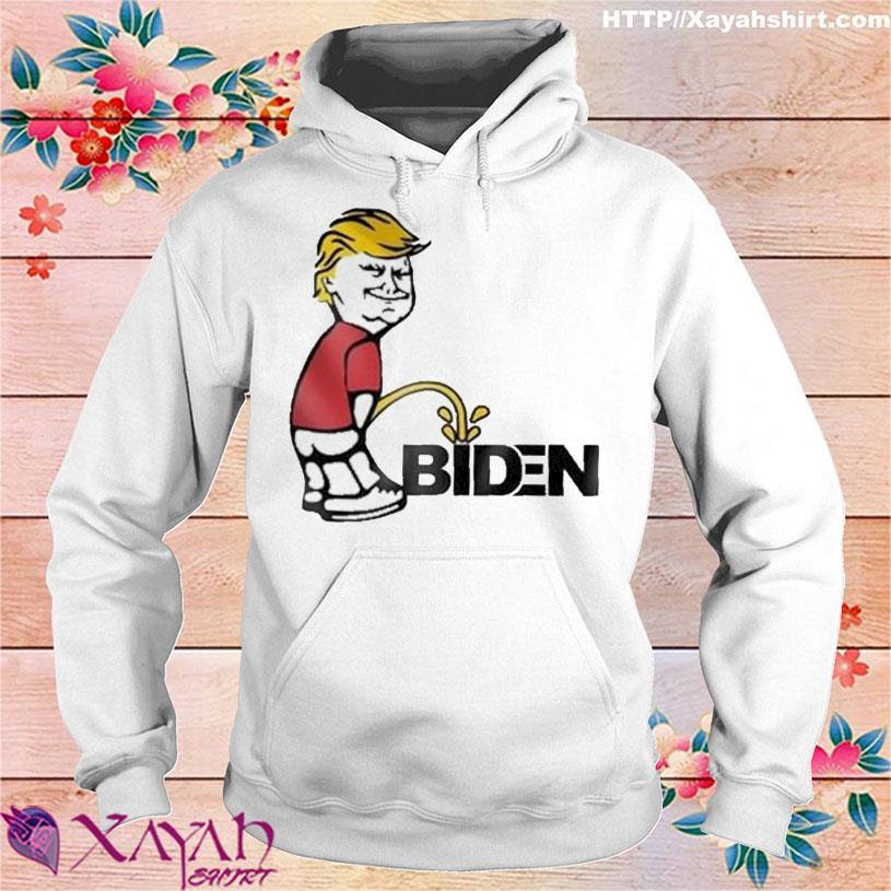 Donald Trump Smile And Peeing on Biden s hoodie
