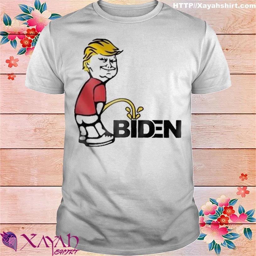 Donald Trump Smile And Peeing on Biden shirt