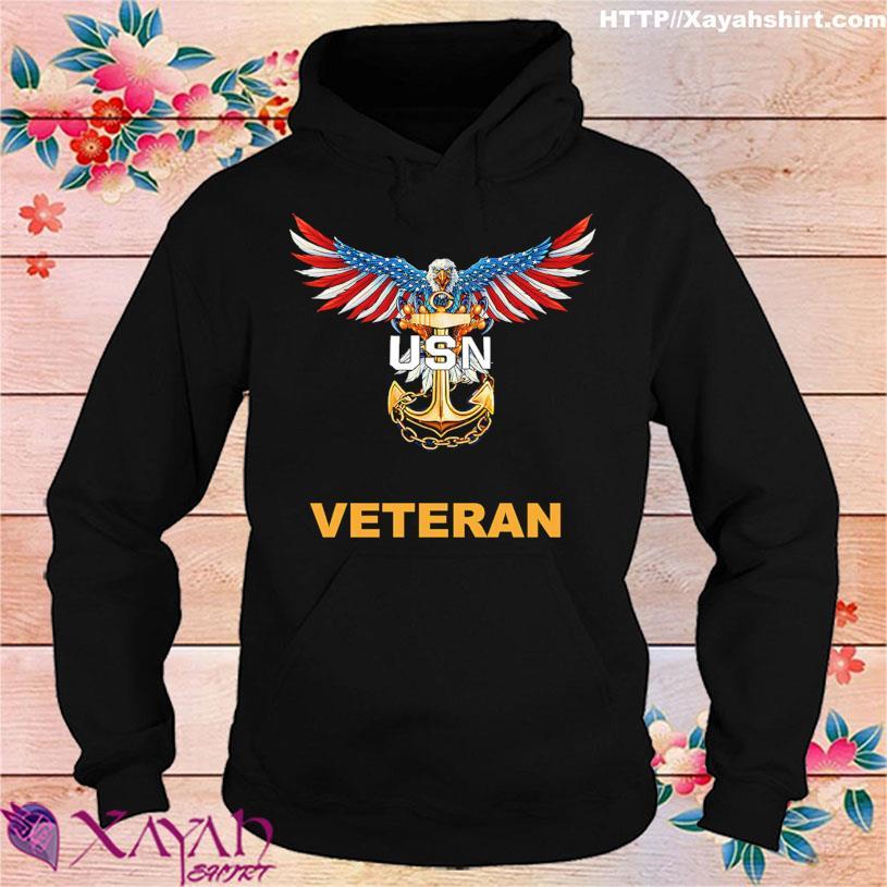Eagle American flag USN Veteran s hoodie