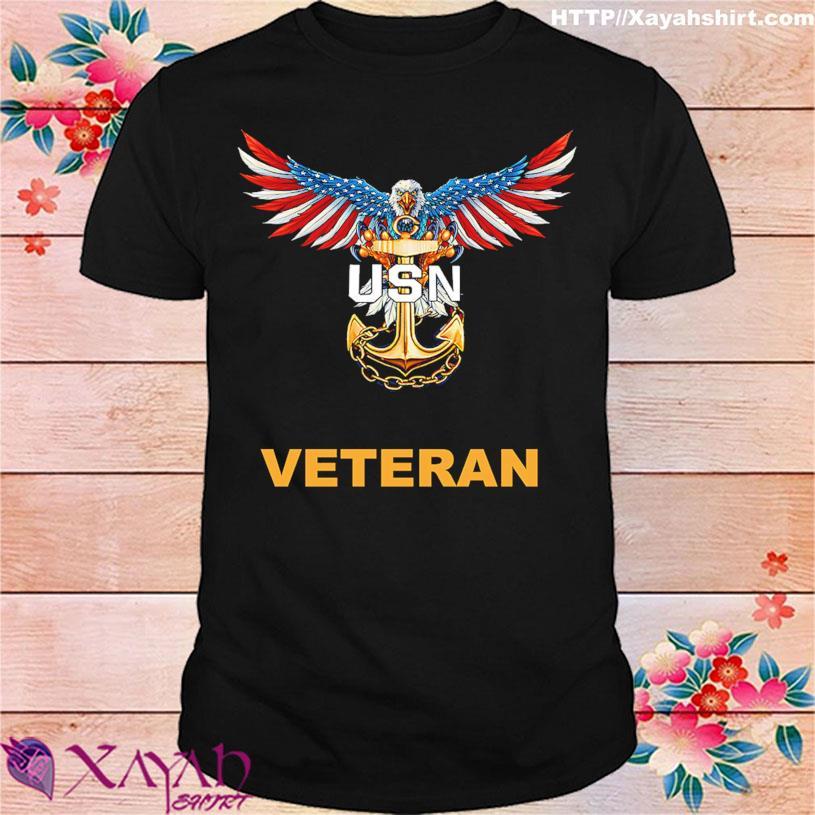 Eagle American flag USN Veteran shirt