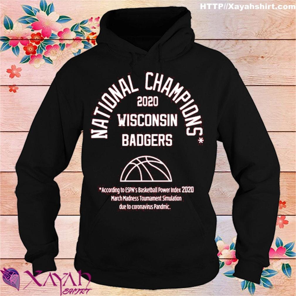 2020 National Champions Wisconsin Badgers Shirt hoodie