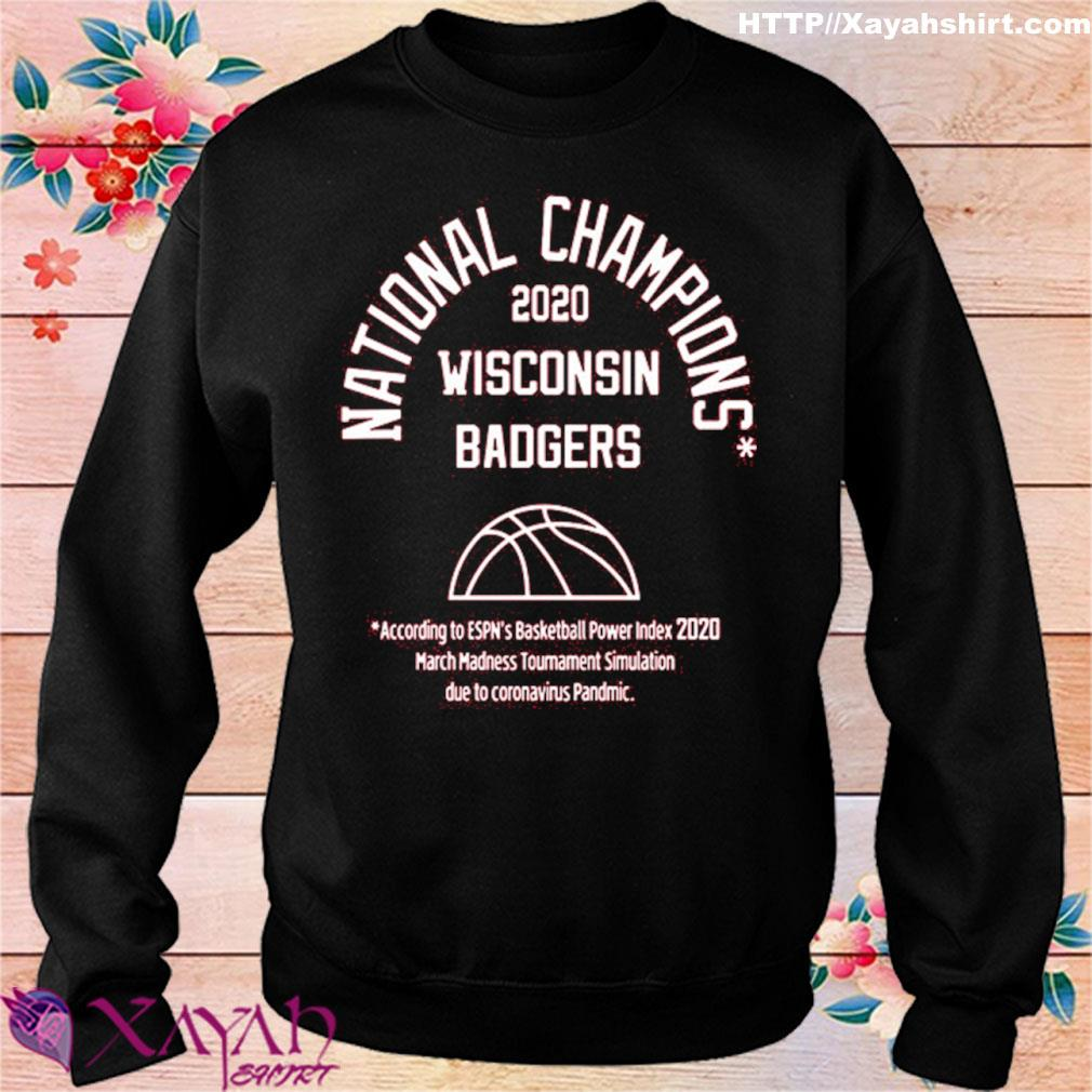 2020 National Champions Wisconsin Badgers Shirt sweater