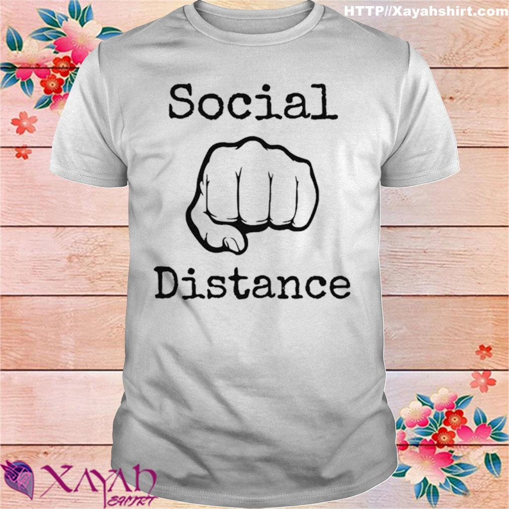 2020 Social Distance No Touching Fist Bumps Shirt