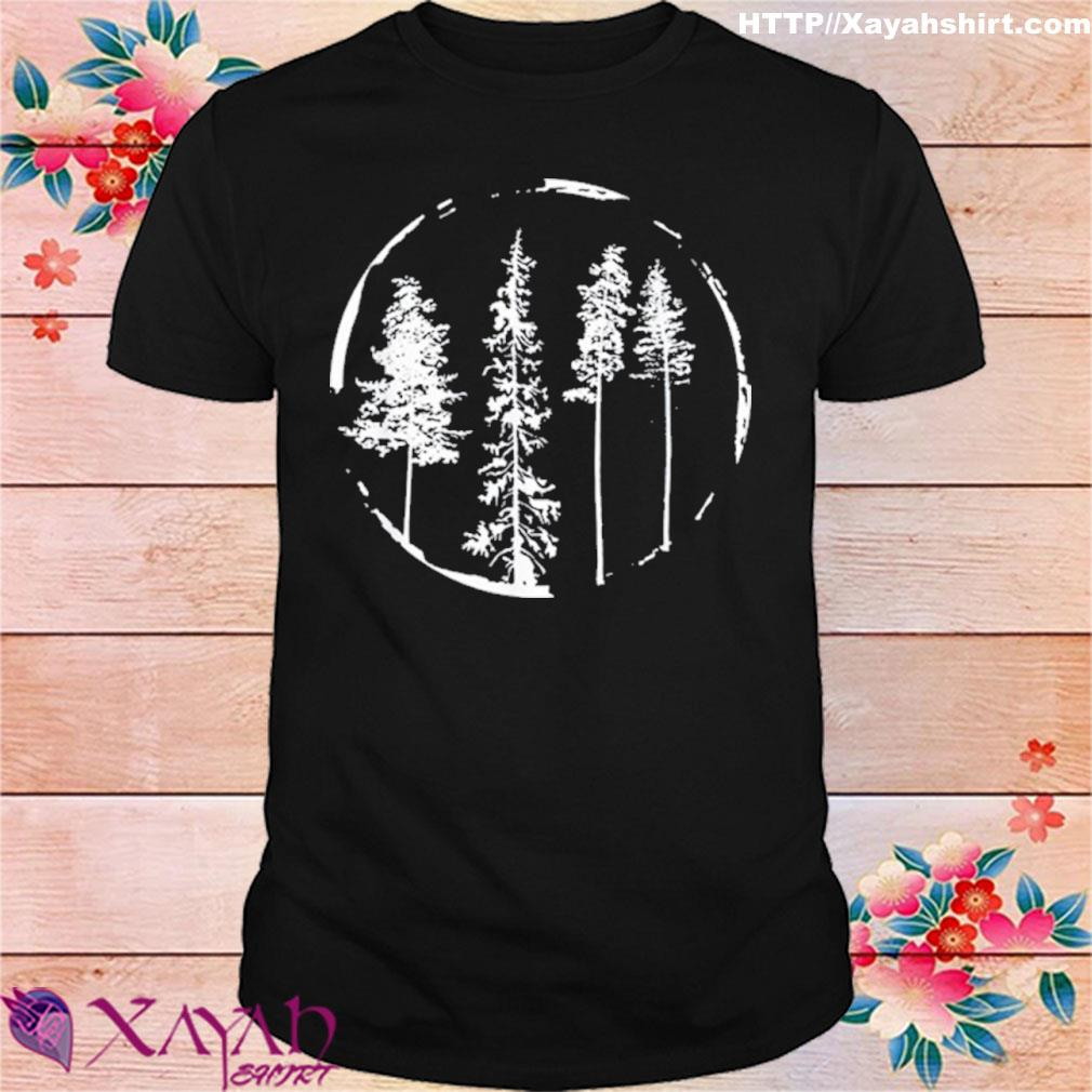 Floral Forest Circle Tree Shirt