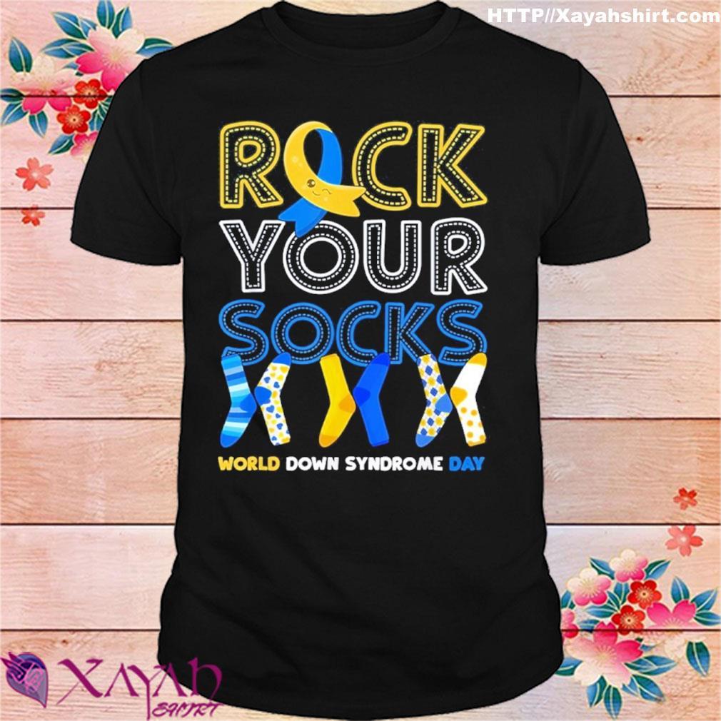 World Down Syndrome Day T Shirt Rock Your Socks Awareness Shirt