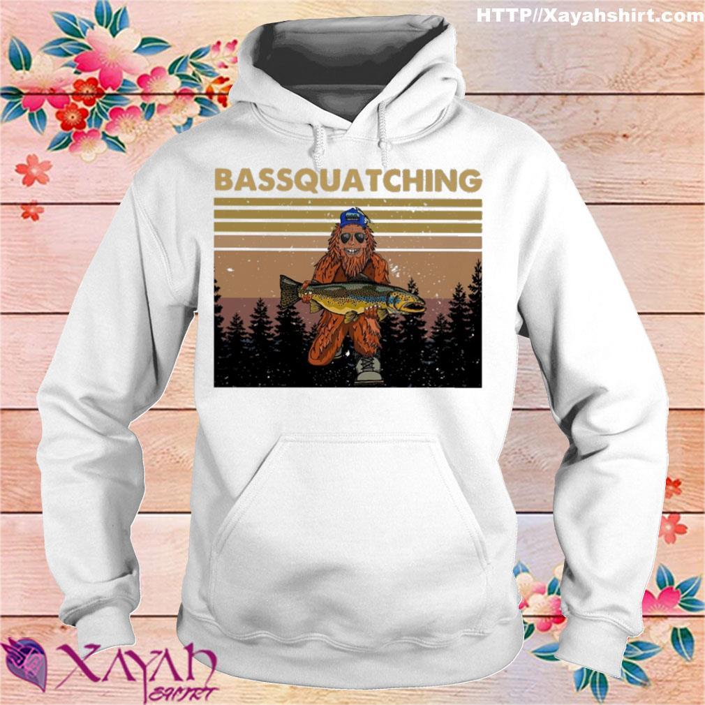 Bigfoot Bassquatching vintage s hoodie