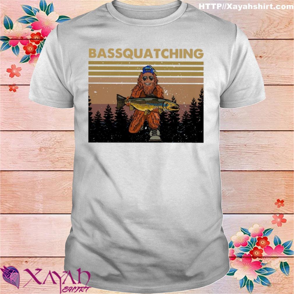 Bigfoot Bassquatching vintage shirt