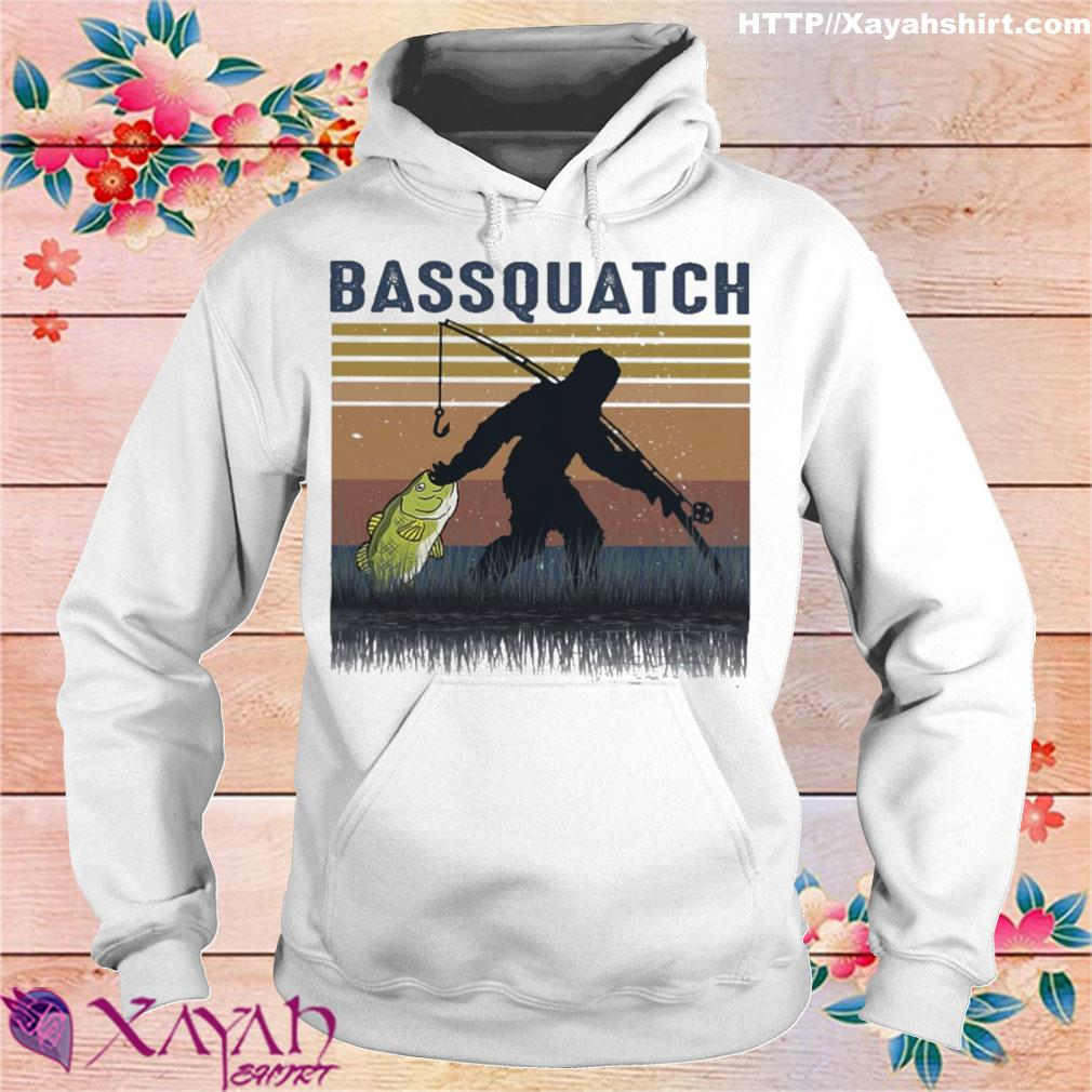 Bigfoot fishing bassquatch vintage s hoodie