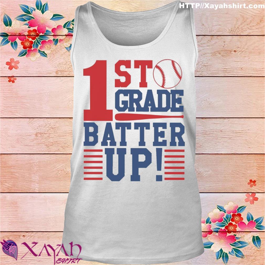 Tennis 1st Grade Batter up s tank top