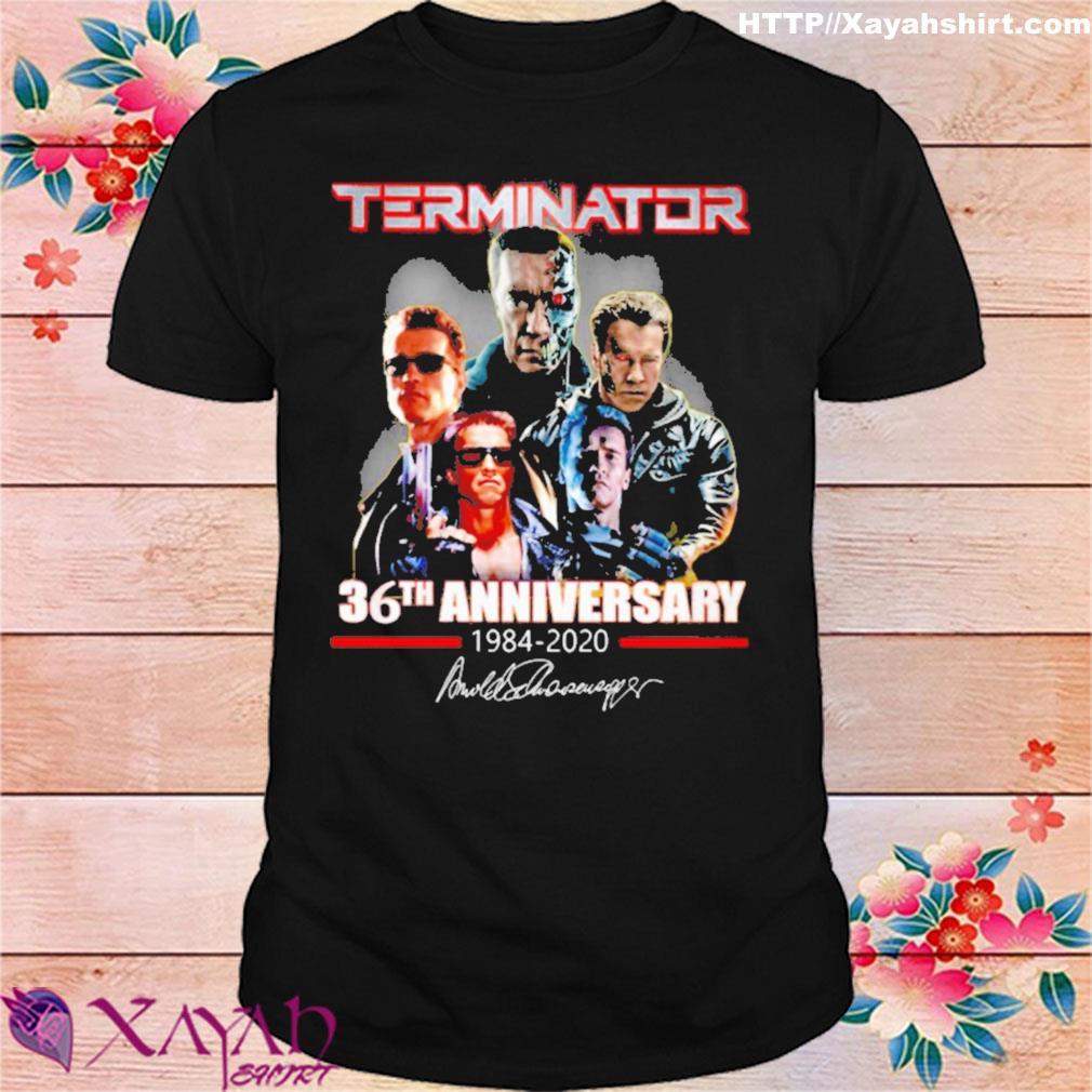 Terminator 36th Anniversary 1984 2020 signature shirt