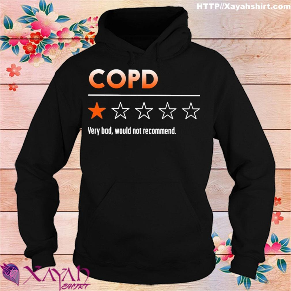 COPD very bad would not recommend s hoodie