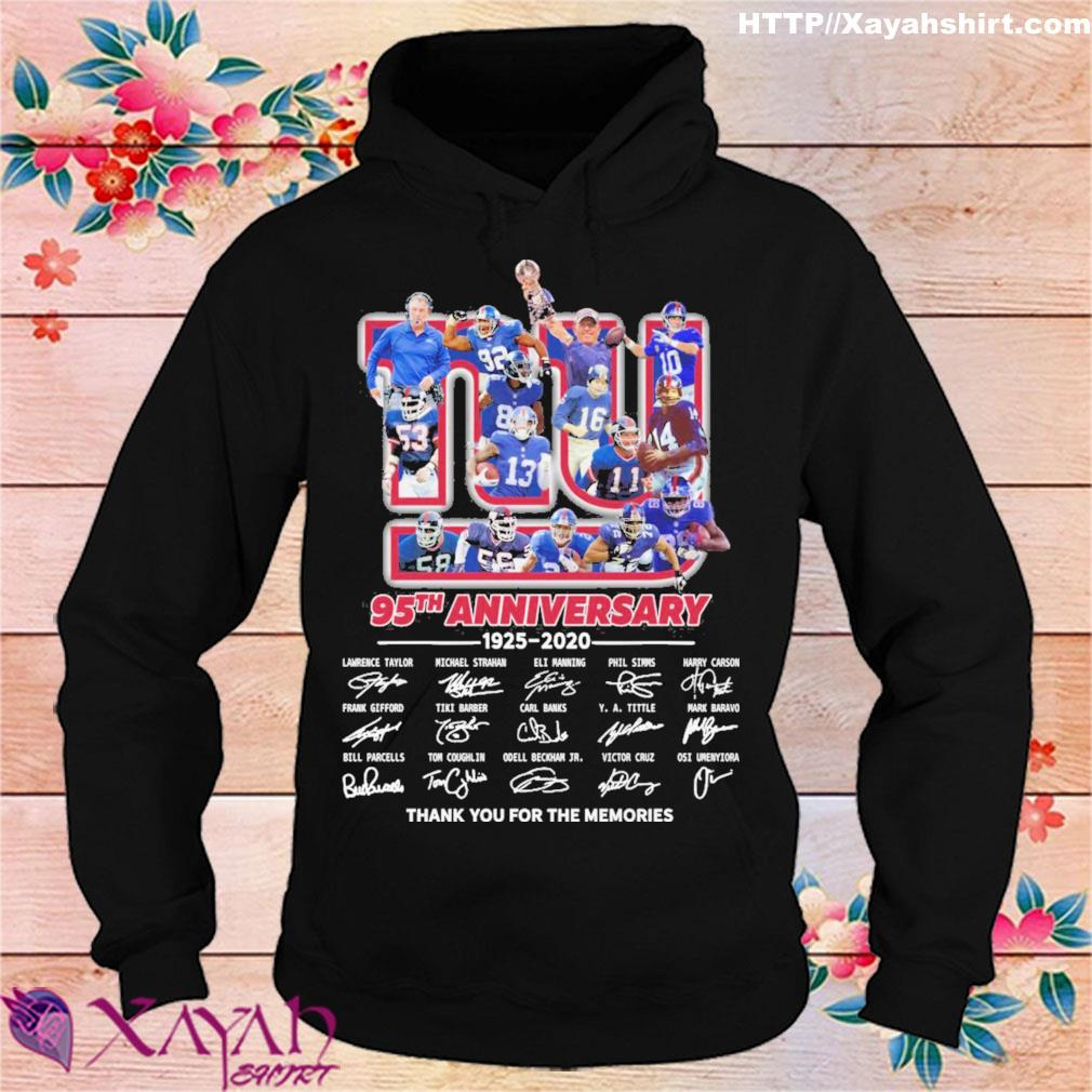 New York Yankee 95th anniversary 1925 2020 thank you for the memories signatures s hoodie