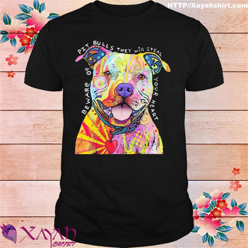Pitbull tattoo Beware of PitBulls they will steal your heart shirt