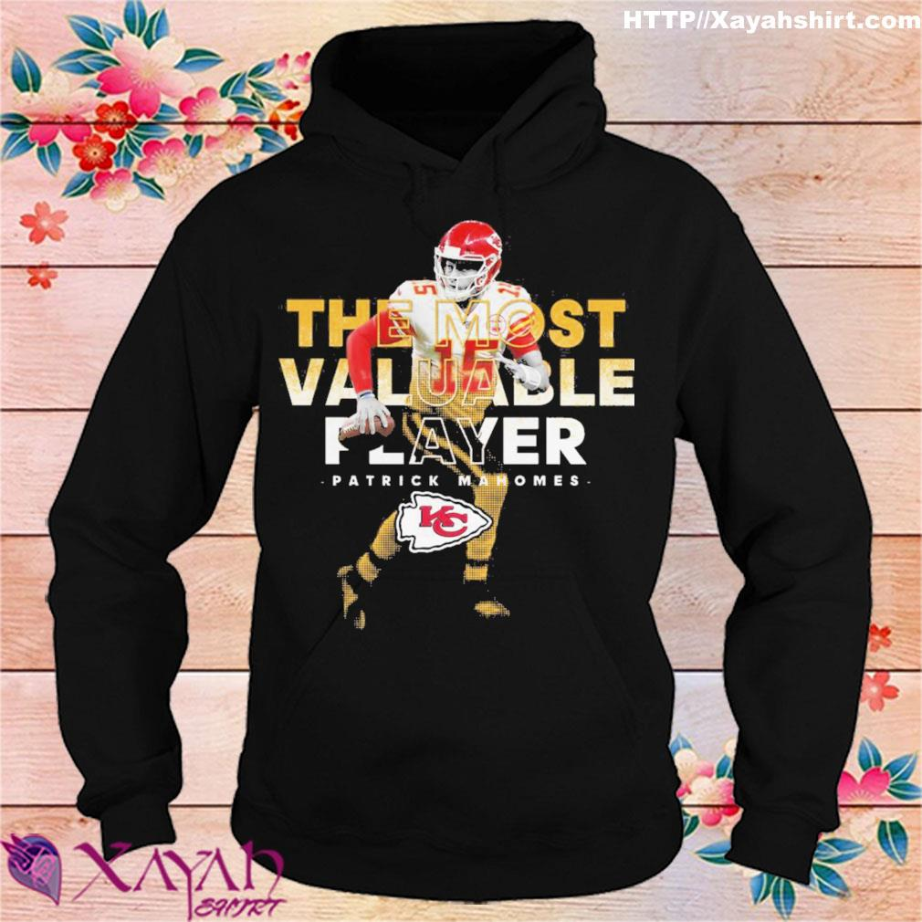 The most valuable player patrick mahomes kansas city chiefs signatures s hoodie