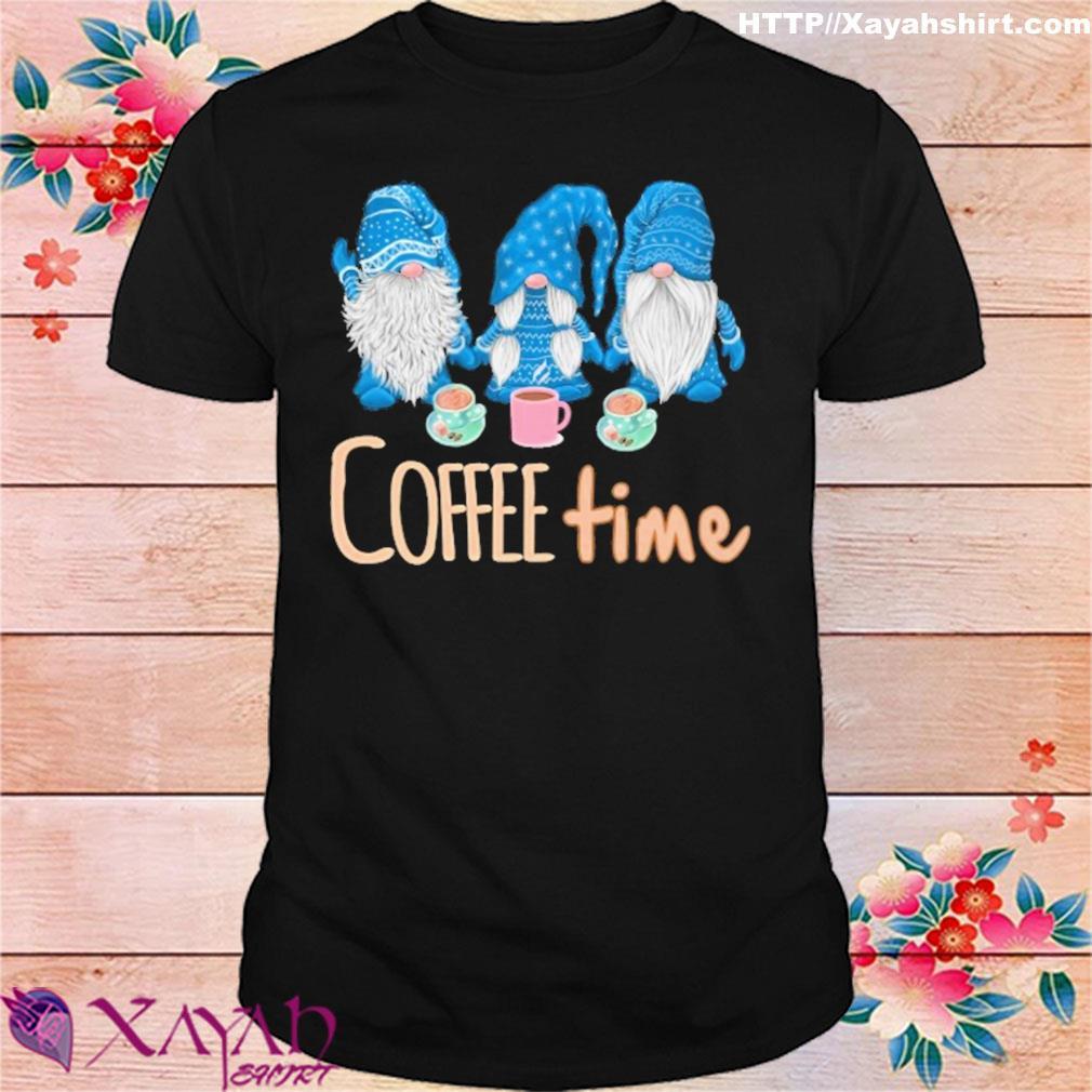 Gnomes coffee time Christmas shirt