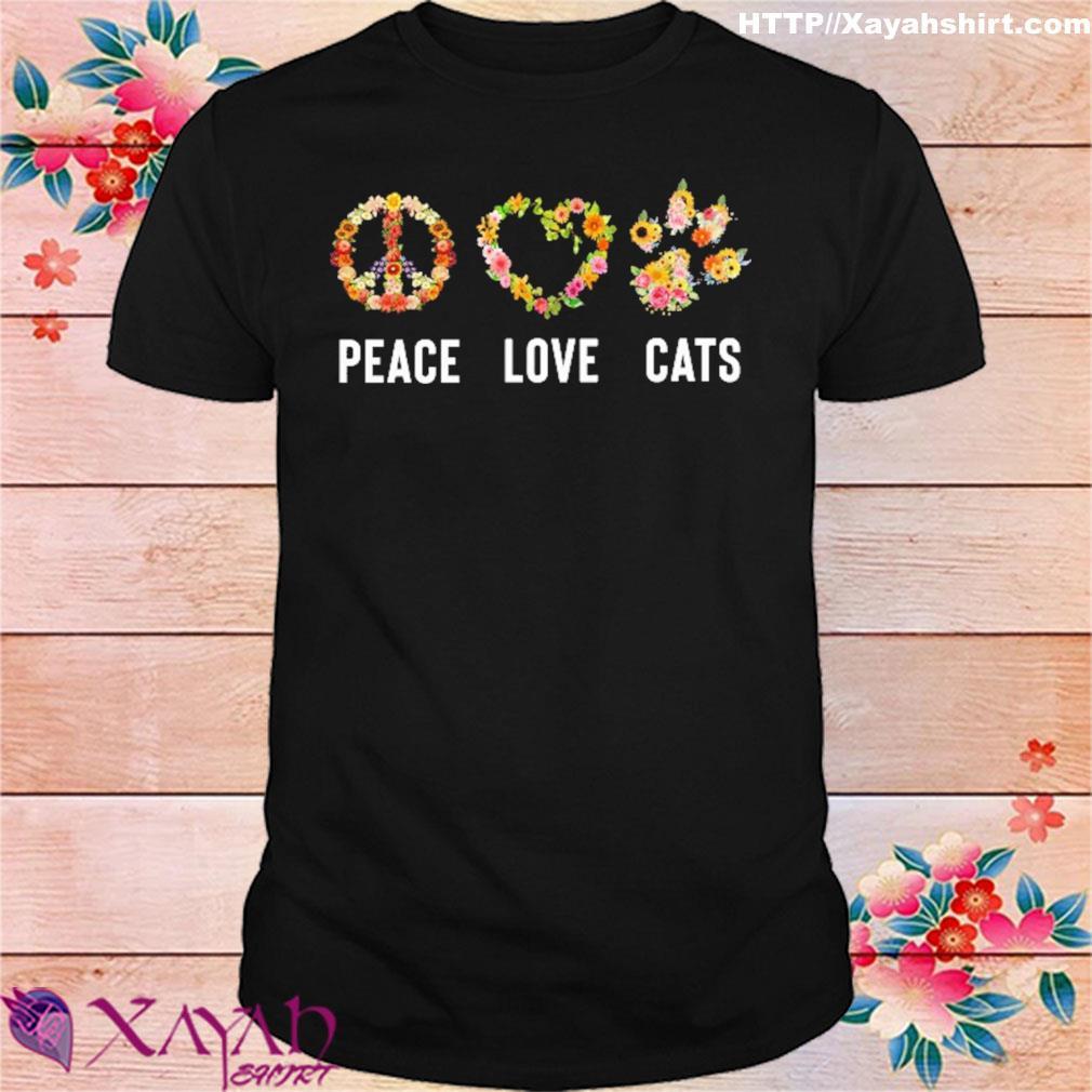 Peace love Cats shirt
